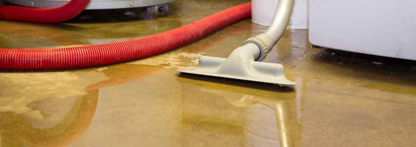 Flooded basement requiring water extraction