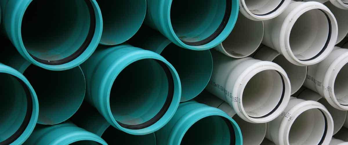 Stacked drain pipes