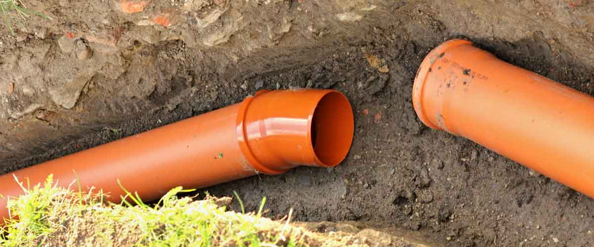 Drain pipes to be connected underground